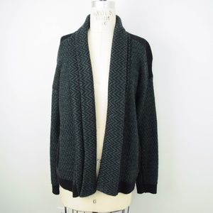 Cabi Fireside Chevron Open Front Sweater Cardigan